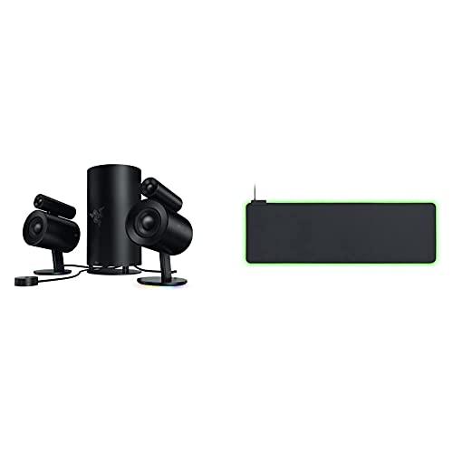 Razer Nommo Pro - 2.1 Virtual Surround Premium Gaming und Heimkino Lautsprecher System mit THX-Zertifikat & Goliathus Extended Chroma - Extra große weiche XXL Gaming Maus-Matte mit RGB Beleuchtung