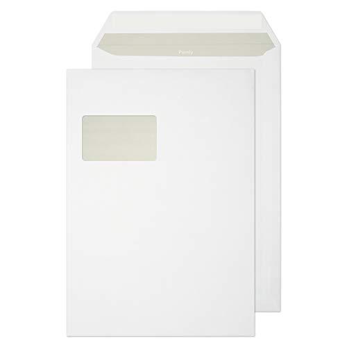 Purely Everyday 23772 Briefumschläge Haftklebung Mit Fenster Weiß C4 324 x 229 mm - 100g/m² | 250 Stück