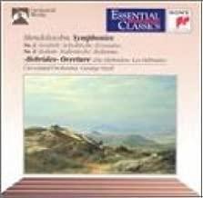 Mendelssohn: Symphony No. 3, Scottish / Symphony No. 4, Italian / Hebrides Overture, Fingal's Cave Essential Classics