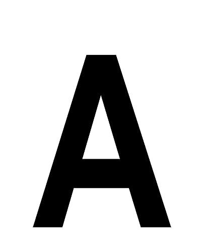 10 pezzi tra numeri, lettere e simboli 20 cm adesivi in plastica lucida ottimo per esterno - Nero