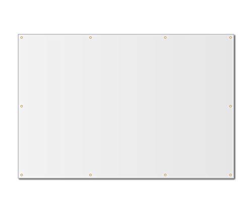 4'x6' Blank White Vinyl Banner - Grommets - 13oz By Milweb1