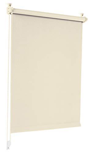 Sonello Verdunkelungsrollo Klemmfix ohne Bohren 120cm x 210cm Creme Verdunklungsrollo Fensterrollo Rollo Seitenzugrollo Klemmrollo für Fenster & Tür