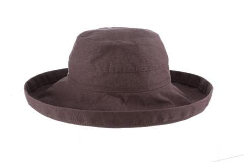 Scala Women's Accessories scala Damen Mütze mit großer Krempe und Kordelzug innen, UPF 50+ - Grau - Einheitsgröße