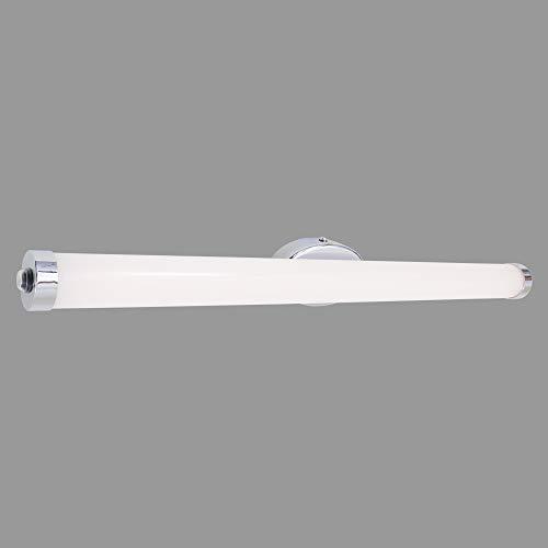 Briloner Leuchten Wandleuchte, LED Spiegelleuchte, Farbtemperatursteuerung, Dimmbar, Memory-Funktion, inkl. Schalter, IP44, 10W, 1.200 Lumen, Chrom-Weiß, 10 W