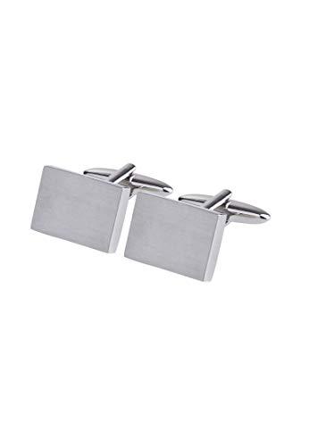 Seidensticker Herren Manschettenknöpfe, Silber (Se 35.001 R1 01), One Size (Herstellergröße:)