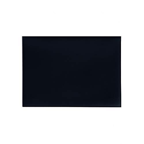 "Poketo Black Vegan Leather 13"" Minimalist Folio Laptop Student Professional"