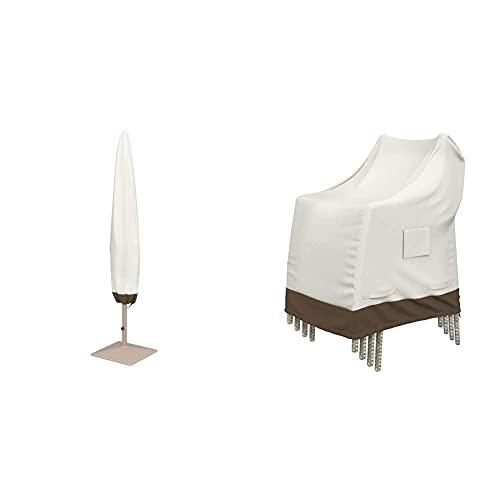 Amazon Basics Housse de Protection pour chaises de Jardin empilables & Housse de Protection pour Parasol
