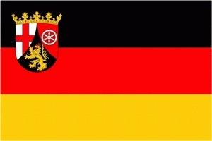 Rheinland Pfalz Fahne Flagge Grösse 1,50x2,50m XXL - FRIP –Versand®