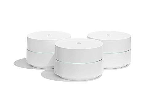 Google WiFi System, 3-Pack - Router Replacement for Whole Home Coverage (NLS-1304-25) (Renewed)