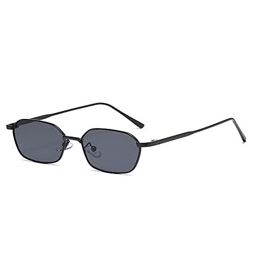 AMFG Small Frame Polygon Sunglasses Hombres y mujeres Trend Metal Gafas de sol Sombrilla de sol al aire libre Espejo de conducción (Color : E)