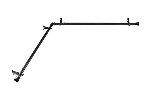 "Rod Desyne CORNER-482 13/16"" Corner Curtain Rod, 48-84 inch, Black"