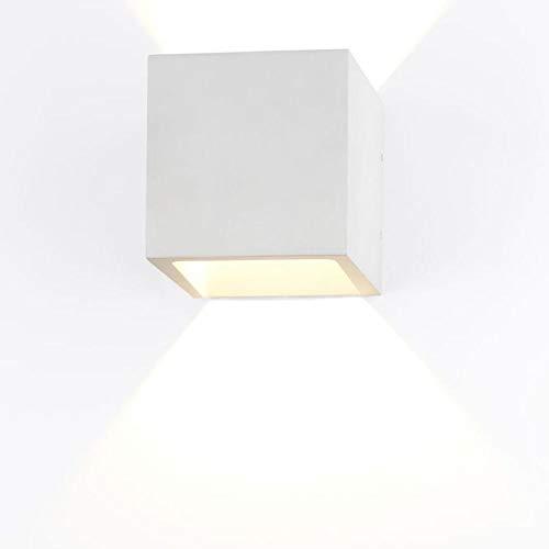 Plâtre Applique murale Lena Intensité variable Lampe murale carrée blanc Applique G9 Lampe Cube Up Down recouvrable