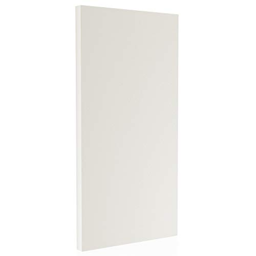 "TMS Acoustical Panel, White - 2"" x 48"" x 24"" - High Sound Absorbing Power – Sound Dampening Panels with Eco-Friendly Fiberglass Core and Metal Structure – Minimalist Design"