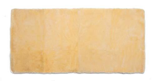 Medizinische Lammfell Betteinlage Bettfell Schaffell Vollfell 90x200cm (medizinisch gegerbt)