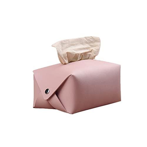beizi Funda de piel sintética para pañuelos faciales, organizador de servilletas, dispensador de toallas de papel, contenedor para decoración del coche en casa, oficina, (color: B)