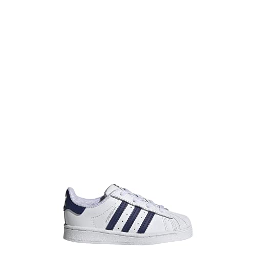 adidas Superstar El I, Scarpe da Ginnastica Unisex-Bambini, Ftwr White/Night Sky/Ftwr White, 23 EU