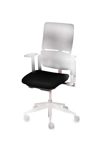 """TexDeko Bezug für Bürostuhl - Husse für Bürodrehstuhl & Schreibtischstuhl, Chefsessel, Bürosessel """"one Size fits All"""" (schwarz)"""