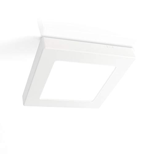 LED-paneel plafond opbouw of inbouw 120x120mm 6,5W, kleur neutraal wit 4000K, plafondlamp ultraslim, 15mm hoogte, incl. voeding en montagelijst, Xtend PLd2.0
