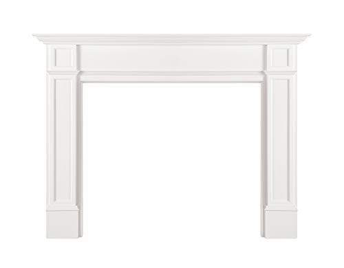 Pearl Mantels 540-48 Marshall Fireplace 48-Inch White Paint Mantel Surround Opening Width