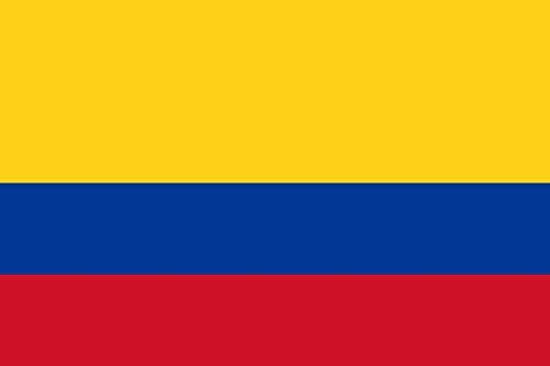 Etaia 5,4x8,4 cm Auto Aufkleber Fahne/Flagge von Kolumbien Colombia columbien Länder Sticker fürs Motorrad Bike Handy Laptop