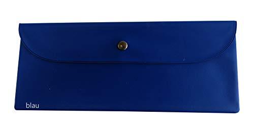 Bestecktasche Kunststofffolie blau, dunkelgrün, gelb, lila, silber, cognac, khaki, bordeauxrot, lindgrün, rot