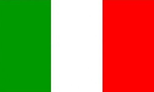 45,7 x 30,5 cm (45 x 30 cm) Italien Italienische Trikolore Sleeve Boot Höflichkeit 100% Polyester Material Hand Waving Flag Banner Ideal für Pub Club Schule Festival Business Party Dekoration