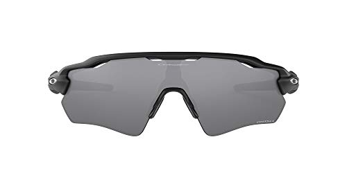 Oakley Men's OO9208 Radar EV Path Shield Sunglasses, Matte Black/Prizm Black Polarized, 38 mm