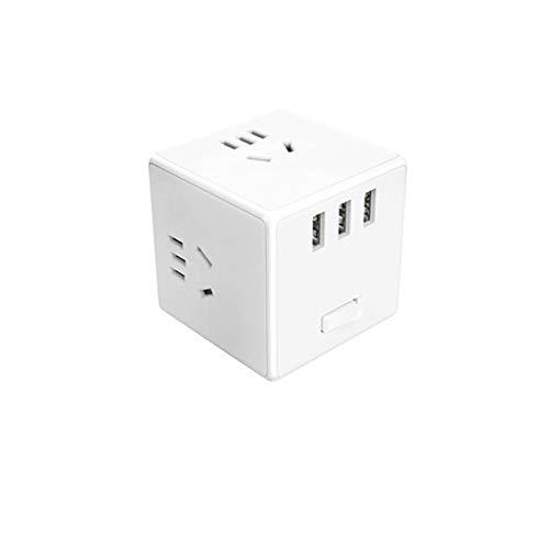 ZHWDD Enchufe convertidor, Tablero de terminales de Carga portátil Compacto Multifuncional, Enchufe de regleta de alimentación USB de protección de Seguridad múltiple, para el hogar, Viajes