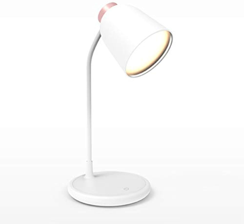 WY1688 LED-Schreibtischlampe Silikon-Lampe Dreifarbige Beleuchtung Laden USB-Snchtlicht
