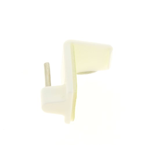 Luance - Lot de 4 supports adhesifs special pvc blanc