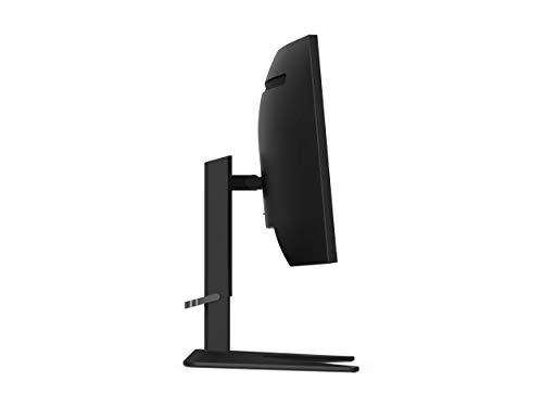 Lenovo G34w-10 34-Inch WQHD Curved Gaming Monitor, 21:9 Ultra-Wide, 3 Side NearEdgeless, 3440 x 1440, AMD FreeSync, 144Hz, HDMI, DP, Adjustable Stand, VESA, 66A1GCCBUS, Black