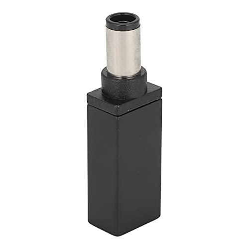 Goshyda Adaptador de Tipo C a CC, Enchufe Hembra a Macho de 7,4 x 5,0 mm, Dispositivo de Carga con Conector PD Recto para HP, portátil