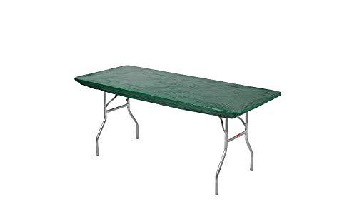 Kwik Covers 8' Rectangle Plastic Table Covers 30' x 96', Bundle of 5 (Hunter Green)