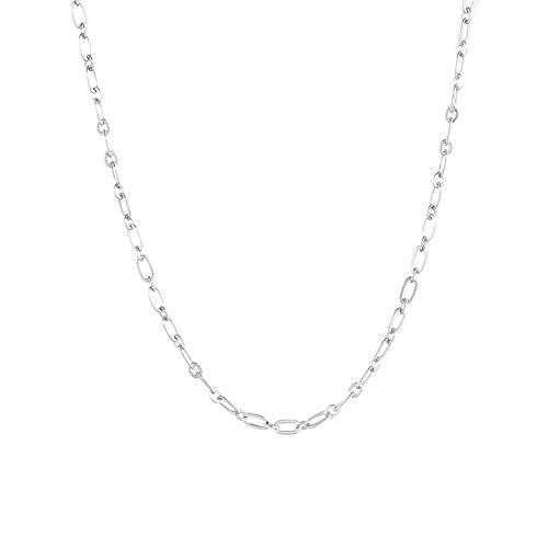 MIKUAM Collar Collar con Colgantes de Luna Cruzada clásico de Moda de Plata de Ley 925 para Mujer, Collar Vintage para Mujer, Collares en Capas