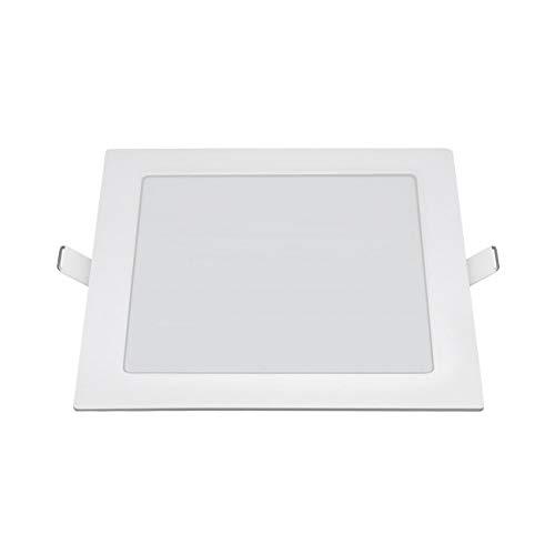 LuzConLed - Mini Downlight 6W cuadrado planoLED Aluminio blanco - ENVÍO DESDE ESPAÑA