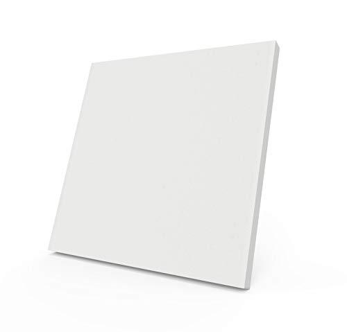 AcousPanel Panel de espuma acústica de resina de melamina Basotect, 6 unidades, diseño cuadrado (50x50x4cm), absorbente ignífugo clase M1. (Blanco)