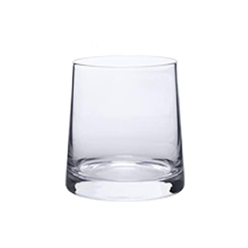 Copa de café de cristal transparente creativa para jugo de vino (capacidad: 270 ml, color: transparente)