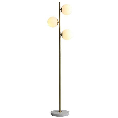 ZA Nordic Creatieve koperen staande lampen voor woonkamer glazen bol-staande lamp kantoor slaapkamer huis kunst-decoratieve lamp