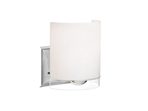 Besa Lighting 1WZ-CELTICCL-CR Celtic - One Light Wall Sconce, Chrome Finish with Opal Glossy/Clear Glass