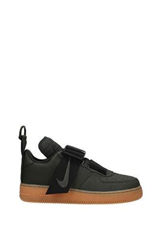 Nike Mens air Force 1 Utility Leather Low Top, Black, Size 9.0