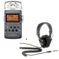 Sony PCM-D50 Portable Linear PCM Recorder - Bundle - with Sony MDR-7506 Professional Folding Headphones