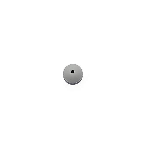 Perle ronde 15 mm en silicone gris moyen x5