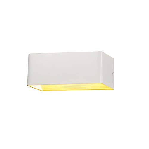 HLD Wandlamp slaapkamer woonkamer LED-buitenverlichting gangpad waterdichte vierkante dimming hotel overdekt nachtkastje corridor Muurlampen (Color : White, Size : A)
