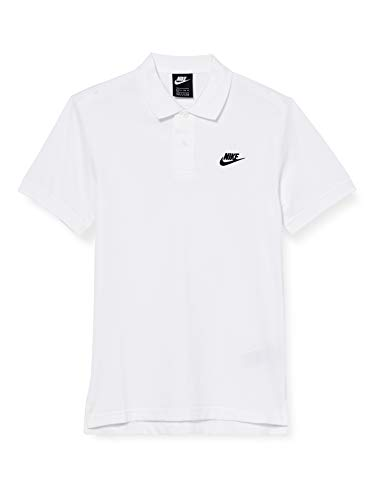 Nike Herren M NSW CE Polo Matchup PQ Shirt, White/(Black), L