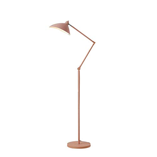 vloerlamp Nordic Creative Macaron Vloerlamp Woonkamer Slaapkamer Bedbank Modern Minimalistisch Mode Persoonlijkheid Verticale Tafellamp (Kleur: Geel - LED driekleurige lichtbron)