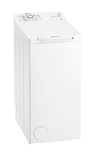 Bauknecht WAT Prime 550 SD N Toplader-Waschmaschine / 5,5 kg / 1000 UpM/Kurz 15 /Startzeitvorwahl/leise mit 60dB/ Mehrfachwasserschutz +/Kurz-Taste, Weiß