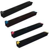 Compatible Toner Cartridges Set Replacement for Sharp MX-2310U MX-3111U - MX-23NTBA MX-23NTCA MX-23NTMA MX-23NTYA - Black Cyan Magenta Yellow (Black 18,000 Pages   Colors 10,000 Pages)