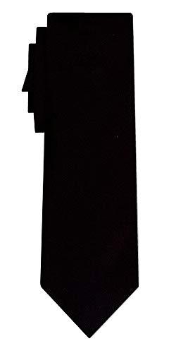 Cravate unie solid black twill texture/teflon