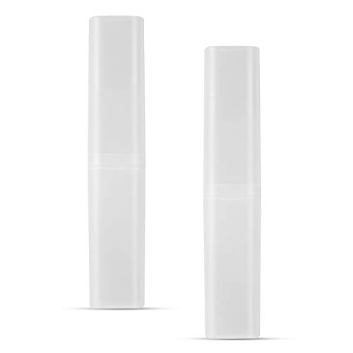 Toothbrush Case, Portable Toothbrush Box Holder Storage for Family Travel Business School 2 Pack Vonpri (Clear)
