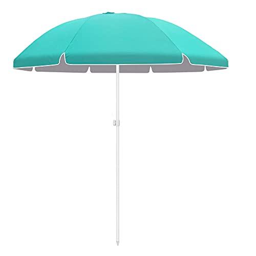 Bessport Ombrellone da Spiaggia 2,3 m con Protezione UPF 50+ Ombrellone da Giardino Ombrellone Portabile con Borsa di Trasporto Inclinabile Antivento per Terrazza Giardino Spiaggia Piscina Patio